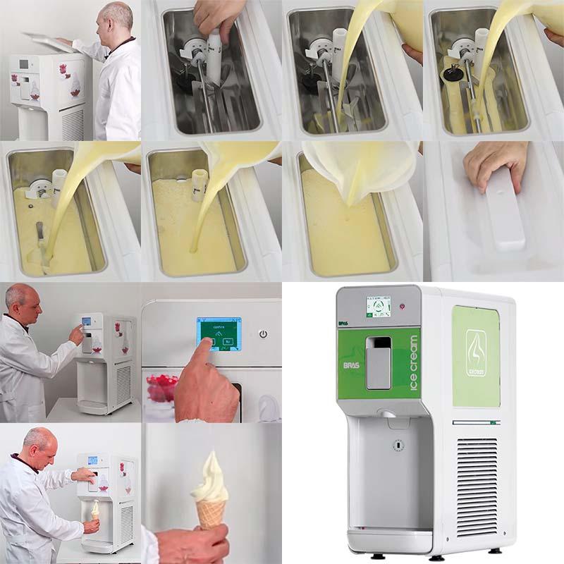 قیمت دستگاه بستنی ساز قیفی رومیزی