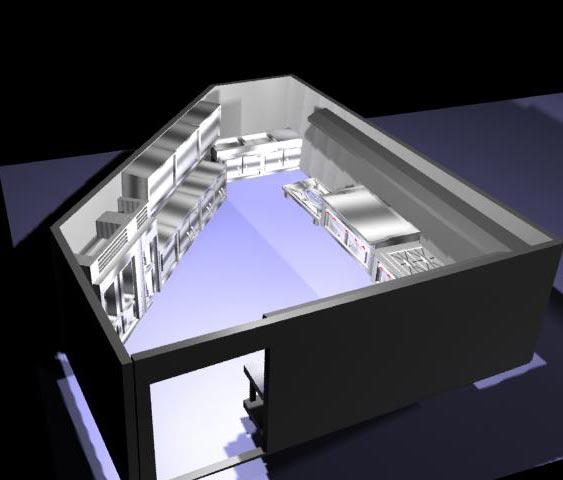 طراحی آشپزخانه صنعتی