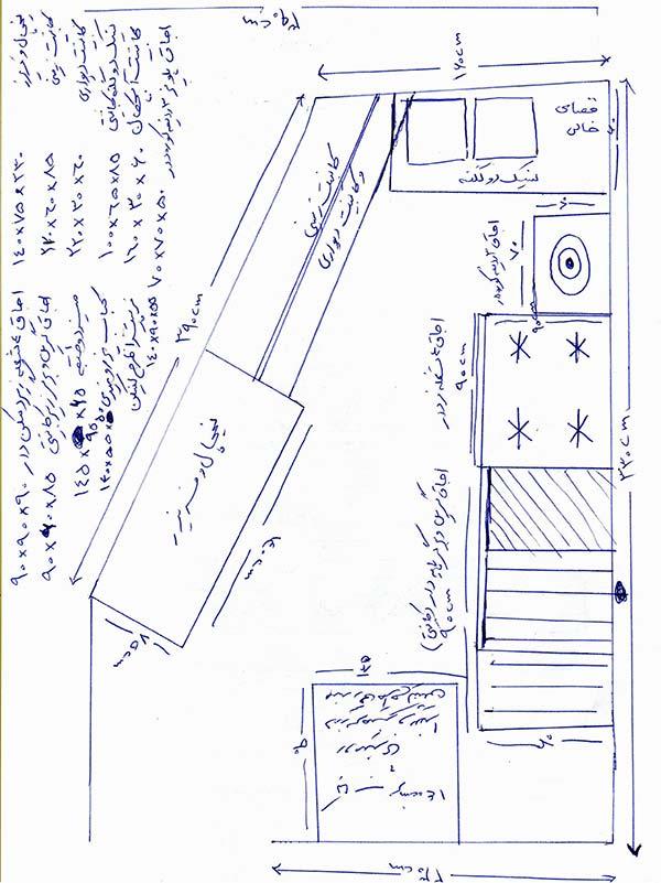 طراحی آشپزخانه صنعتی استاندارد
