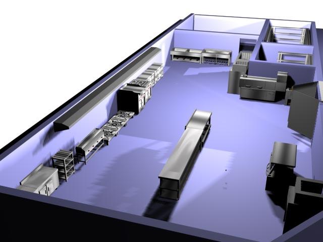 مراحل طراحی آشپزخانه صنعتی