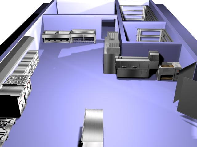 3D Max Kitchen equipment