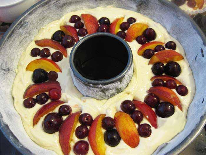 کیک میوه ای فرانسوی