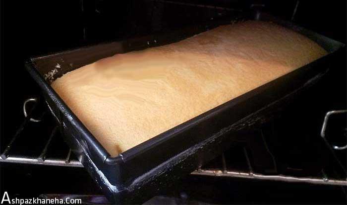 طرز تهیه چیز کیک با پایه کیک