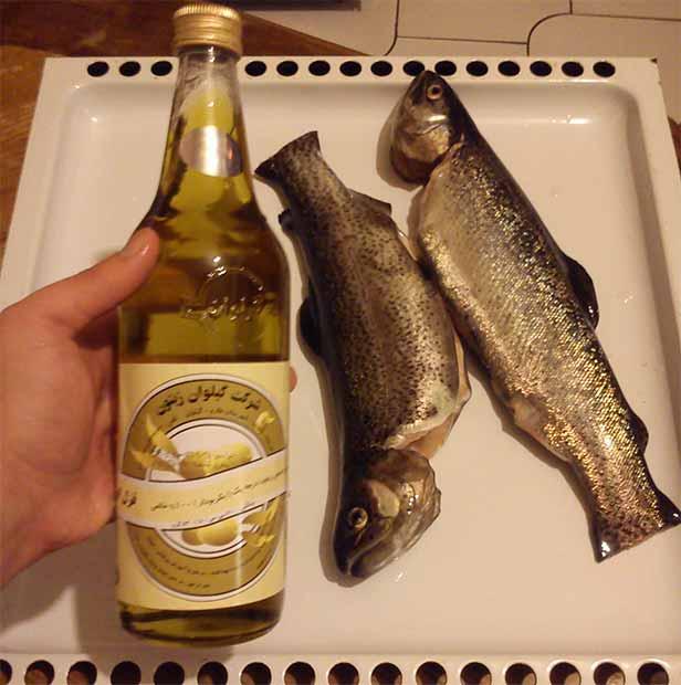 پخت ماهی قزل آلا