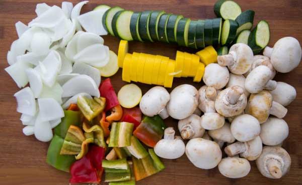 طرز تهیه سبزیجات گریل شده