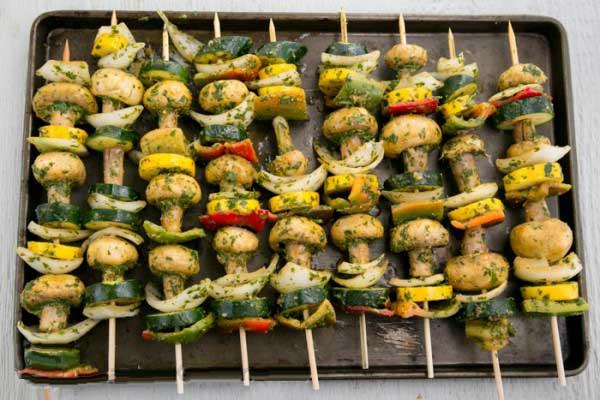 گریل سبزیجات در فر
