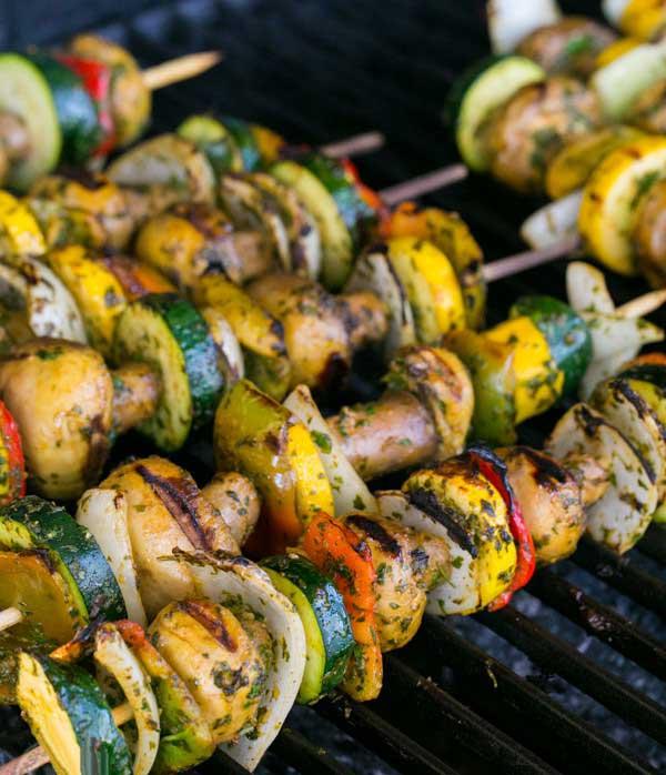 سبزیجات کبابی در فر