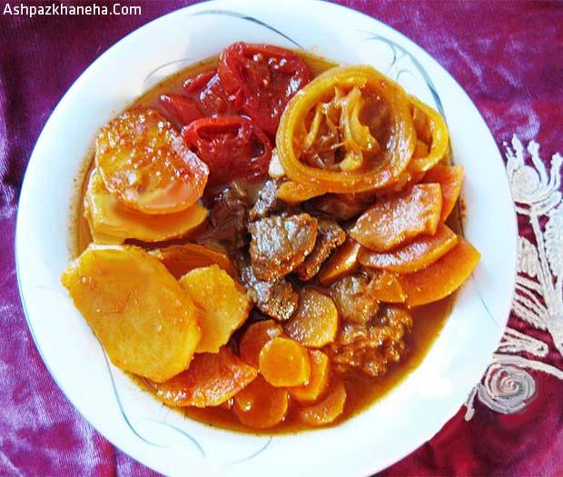 طرز تهیه تاس کباب با گوشت