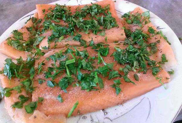 طرز تهیه سالمون