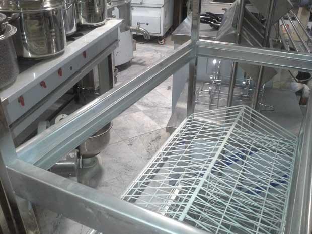 ترولی آبچکان چهار طبقه استیل