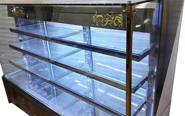 ابعاد یخچال ویترینی