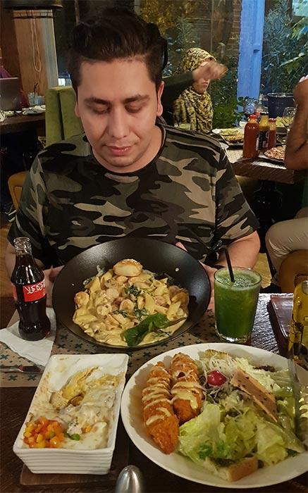 منوی رستوران جنارو پاسداران