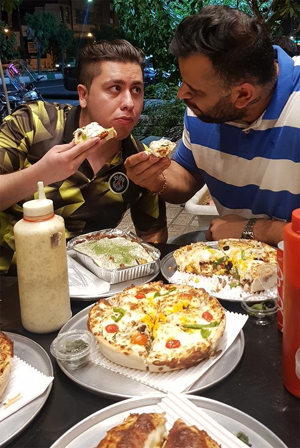 پیتزا سه فر اباذر