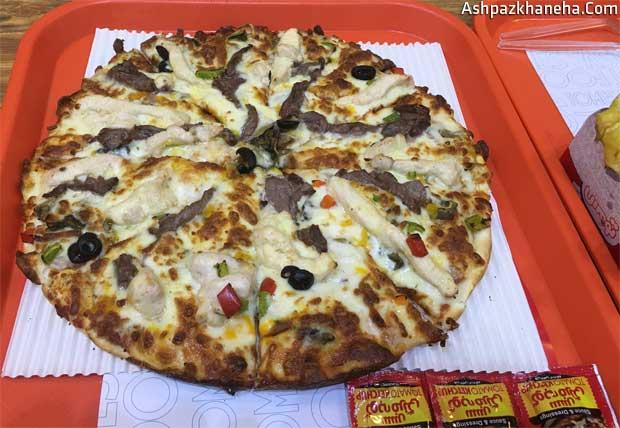 منو پیتزا تومس