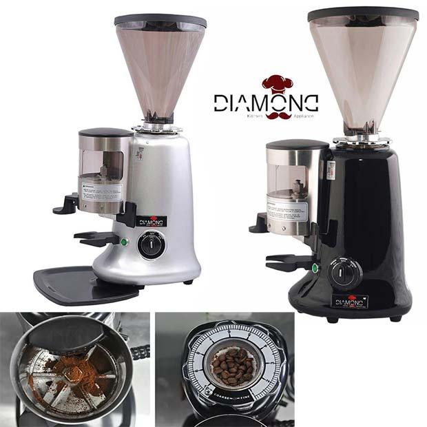 آسیاب قهوه طرح مازر ایتالیا مخزن 900 گرم مارک دایموند چین