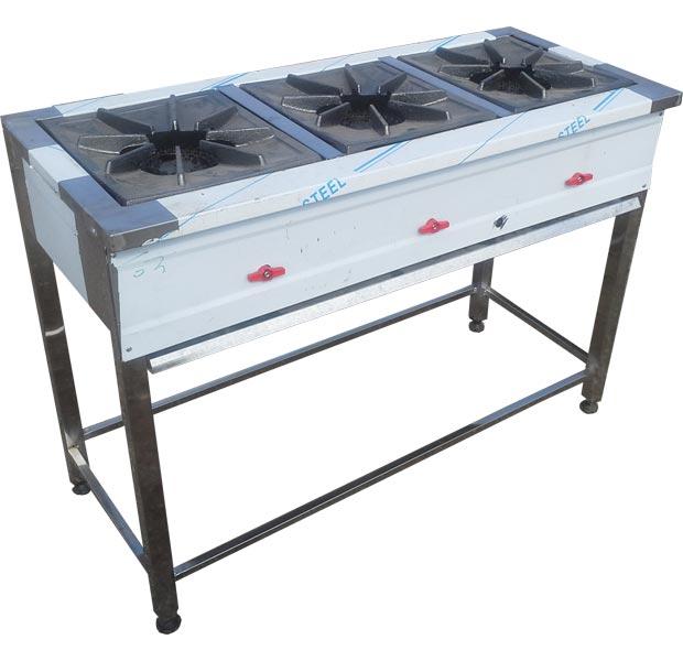اجاق گاز آشپزخانه خطی خورش پز سه شعله پایه دار