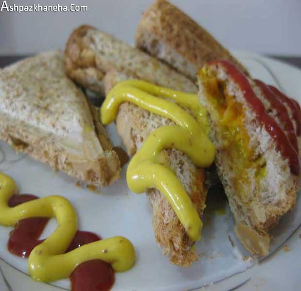 اسنک قارچ و پنیر با ساندویچ ساز