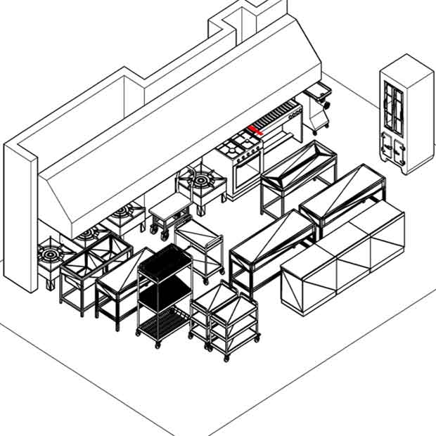 اصول اولیه طراحی آشپزخانه صنعتی طبق ابعاد و استانداردها