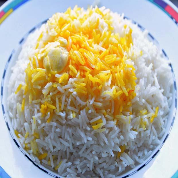 برنج آبکش با ته دیگ مجلسی ایرانی
