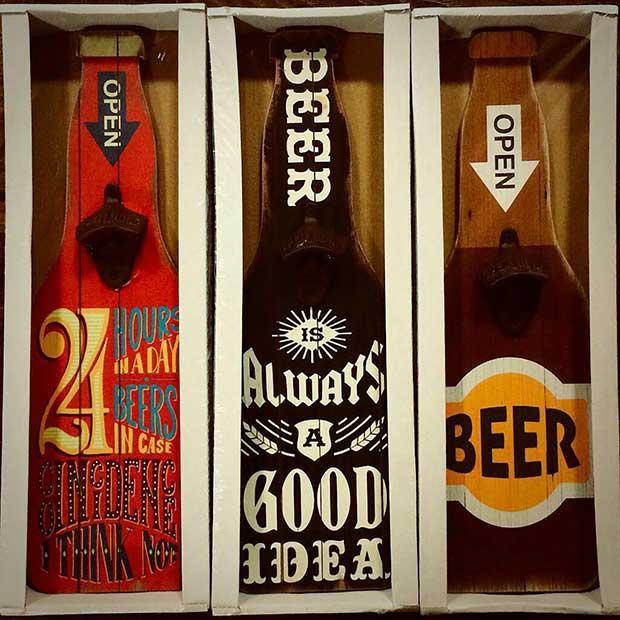 تابلو بیر طرح بطری نوشیدنی با سه طرح