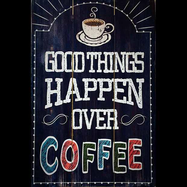تابلو تزیینی چوبی عکس کافه