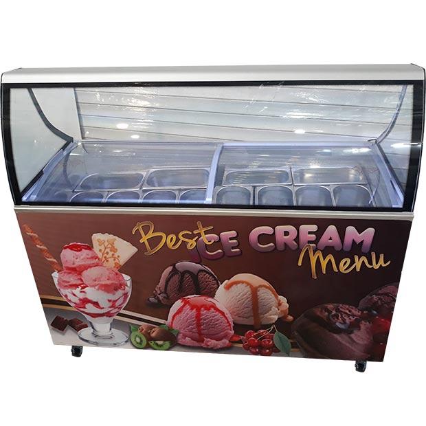 تاپینگ بستنی میوه ای دوازده کاسه