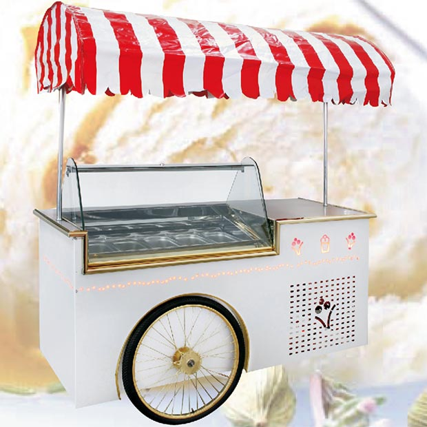 تاپینگ بستنی کالسکه ای چرخ دار