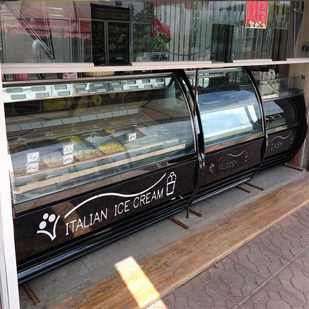 تاپینگ فالوده بستنی سرد طرح ایتالیایی