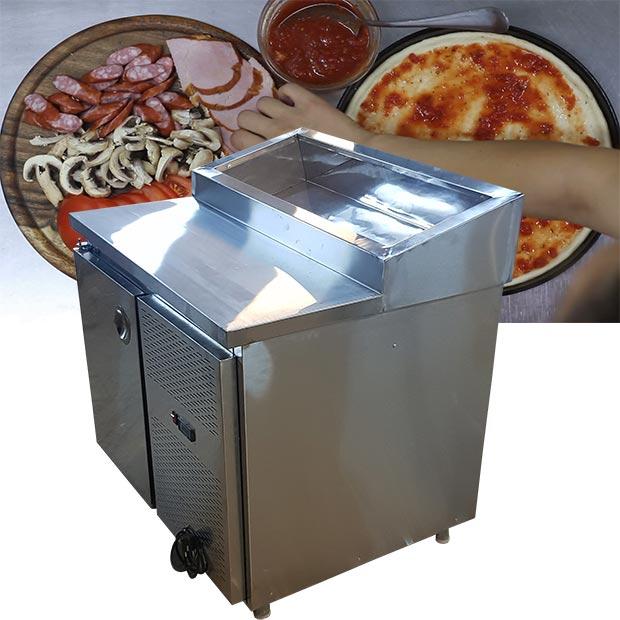 تاپینگ یخچال دار یک متری فست فود پیتزایی ساندویچی