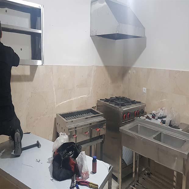 تجهیز آشپزخانه صنعتی شرکت پویا فرا تکنیک تهران سرخه حصار