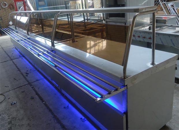 تجهیزات سلف سرویس با نورمخفی آبی