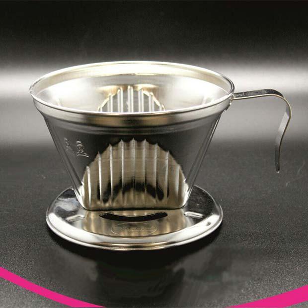 دریپر قهوه استیل طرح شیاردار