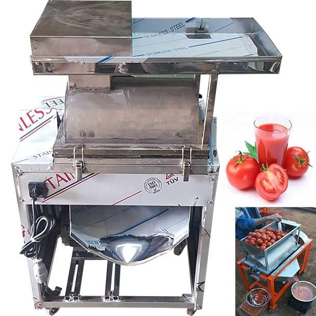 دستگاه آبگیری گوجه صاف کن با ظرفیت 500کیلودرساعت