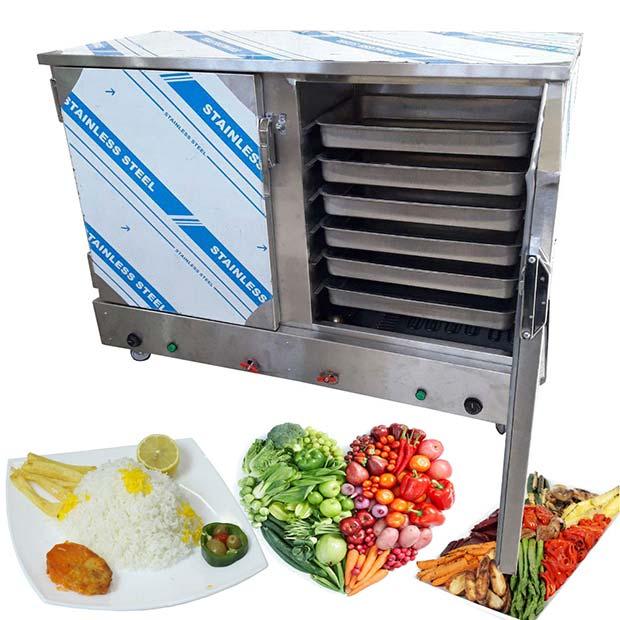 دستگاه بخارپز برقی دم کشیدن برنج و بخار پز سبزیجات گوشت