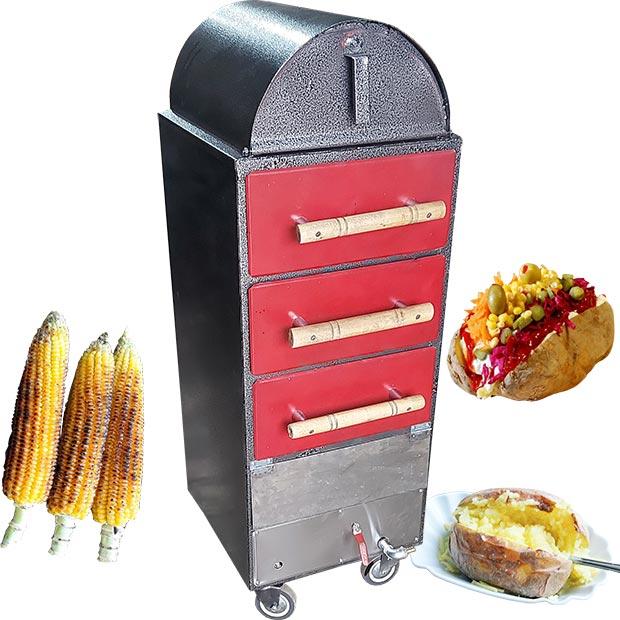 دستگاه بلال تنوری پزی و سیب زمینی کمپیر سه کشو