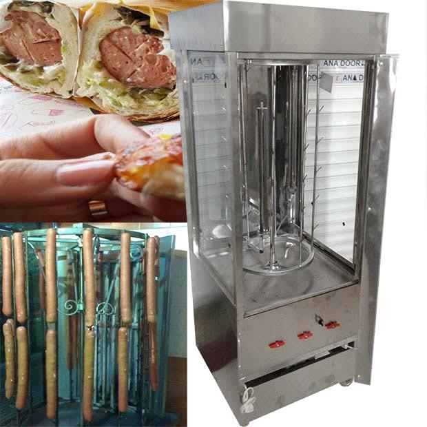 دستگاه سوسیس کراکف پز 48قلاب ساندویچی