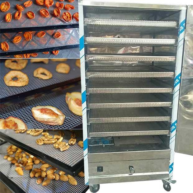 دستگاه میوه خشک کن صنعتی با 8 سینی استیل