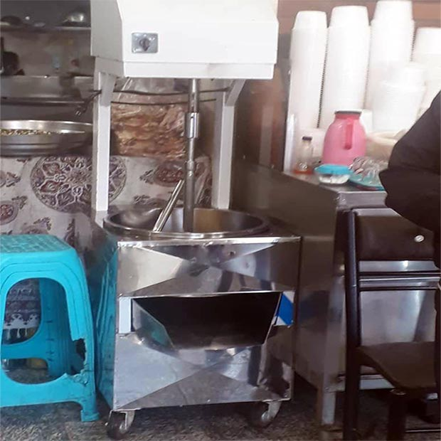 دستگاه همزن حلیم کوب و حليم صاف کن صنعتی