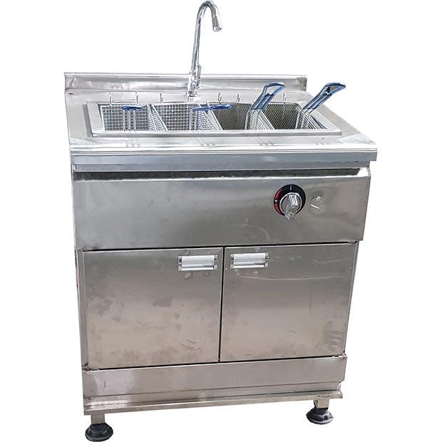 دستگاه پاستا پز چهار سبد صنعتی استیل کابین دار