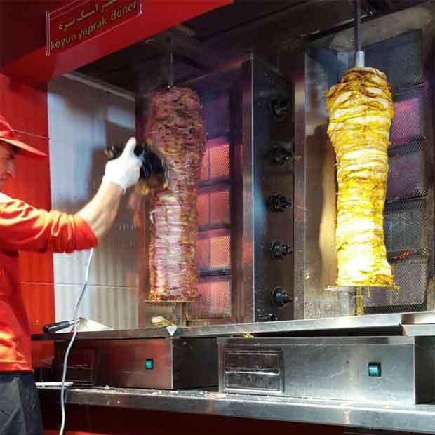 دستگاه کباب ترکی رومیزی تک سیخ مدل آقای دنر