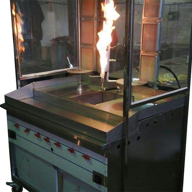 دستگاه کباب ترکی 2 سیخ رستورانی مدل نشاط