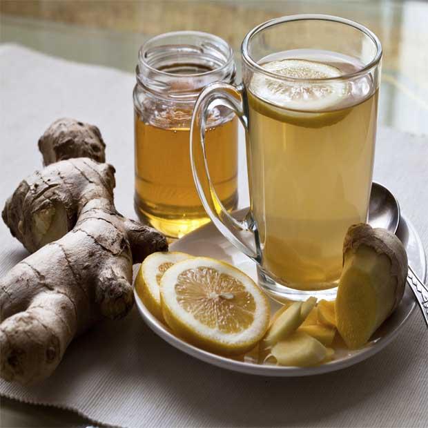 دمنوش ترکیبی لیمو زنجبیل عسل