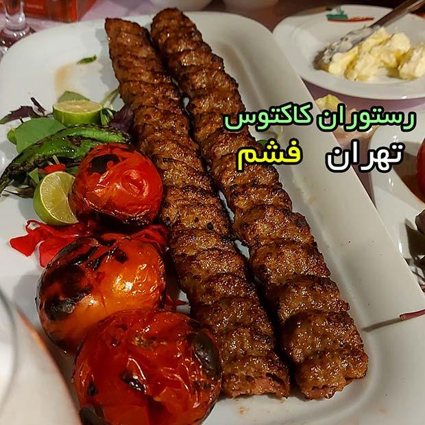 رستوران کاکتوس در فشم تهران کنار رودخانه