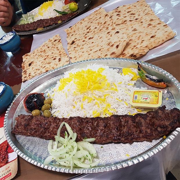 رستوران کباب ناب بناب تهران آیت الله کاشانی