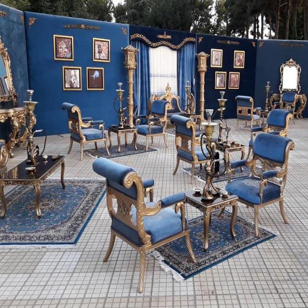 سبک مراکشی در دکوراسیون داخلی تالار پذیرایی
