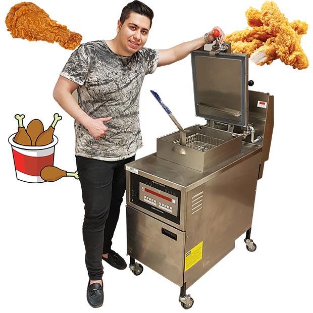 سرخ کن هنی پنی 8000 تحت فشار مرغ سوخاری