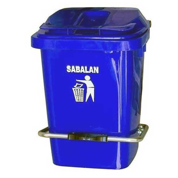 سطل زباله شصت لیتری پدالی رنگ آبی
