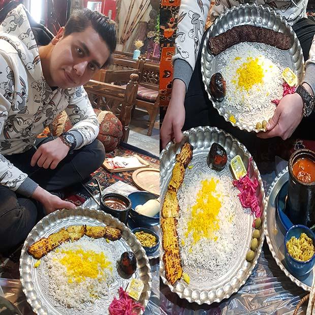 سفره خانه سنتی ته تغاری در تهران اشرفی اصفهانی