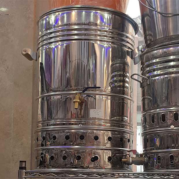 سماور 60 لیتری گازی استیل صنعتی