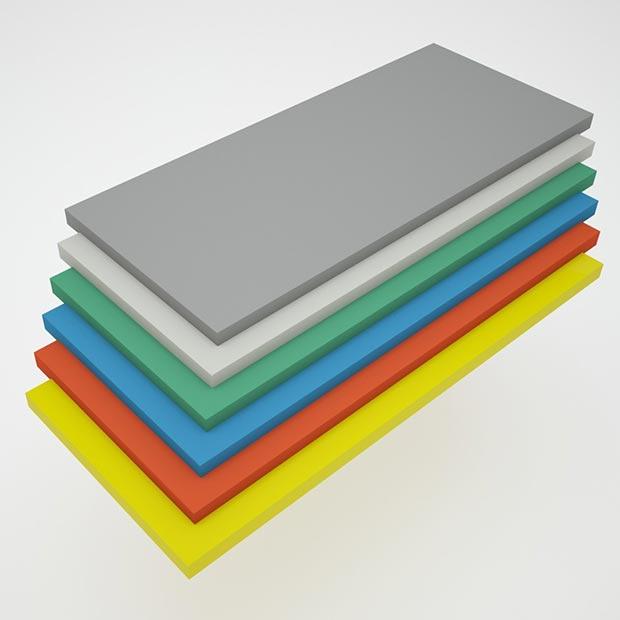 صفحه تفلون رنگی آشپزخانه ضخامت چهار سانتیمتر